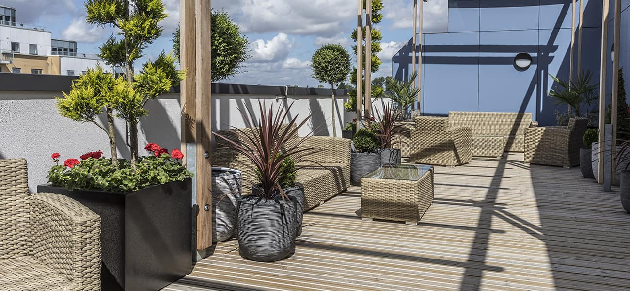 Citideck from Marley Ltd used on London balcony for anti slip solution