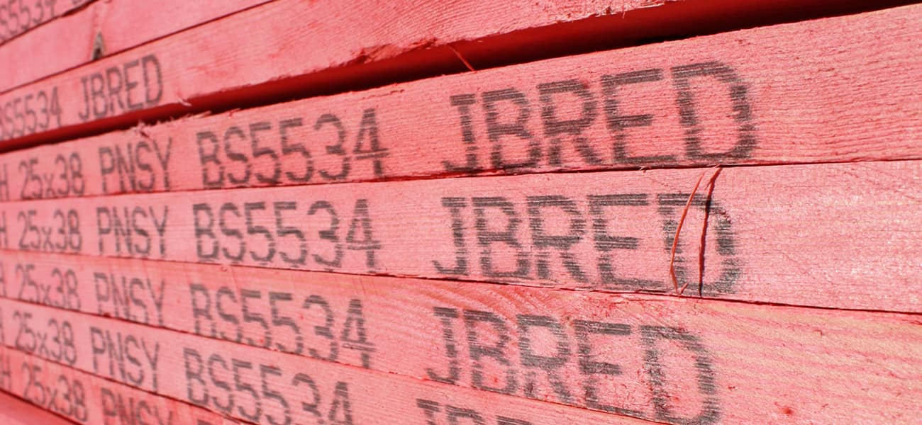 JB Red fully BS 5534 graded batten meets standards and safety