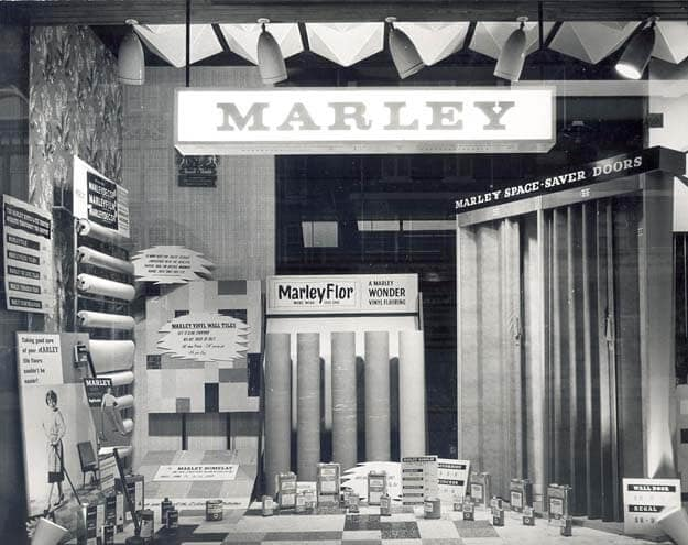 The first Marley retail shop located in southampton and opened in July 1959