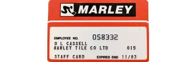 staff discount card for Marley stores
