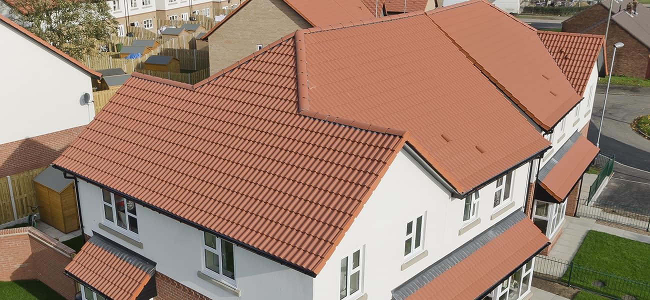 Winterton project featuring Mendip concrete roofing tile by Marley Ltd