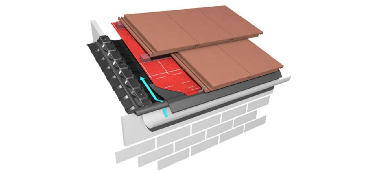 An image of a 10mm eaves vent plus system, to help protect from the ingress of birds, vermin and insects, available from Marley.