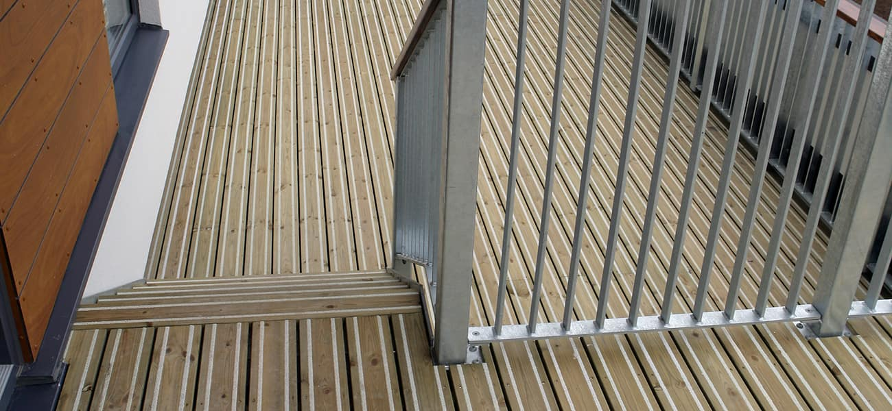 Anti Slip Timber decking used in stairs