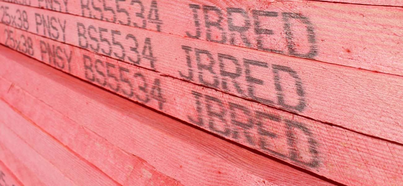 Stack of JB red batten BS5534