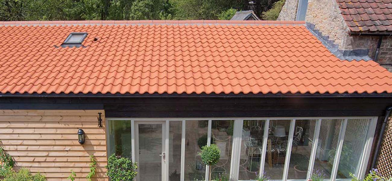 low pitched clay roof tile