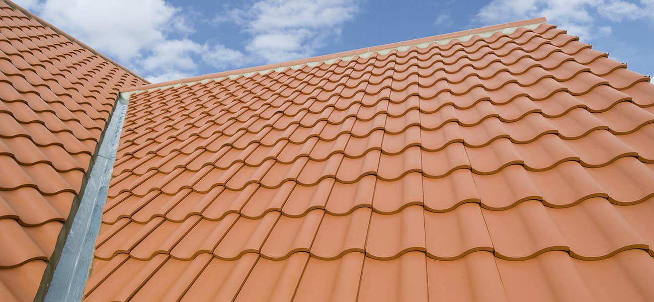 Where are coloured clay tiles used? | Marley