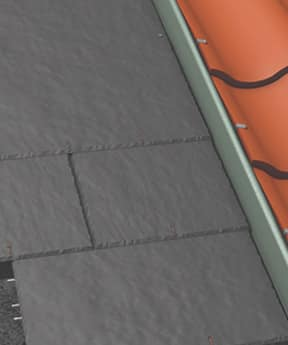 An image of a roof eave vent system, available from roof tile suppliers, Marley.