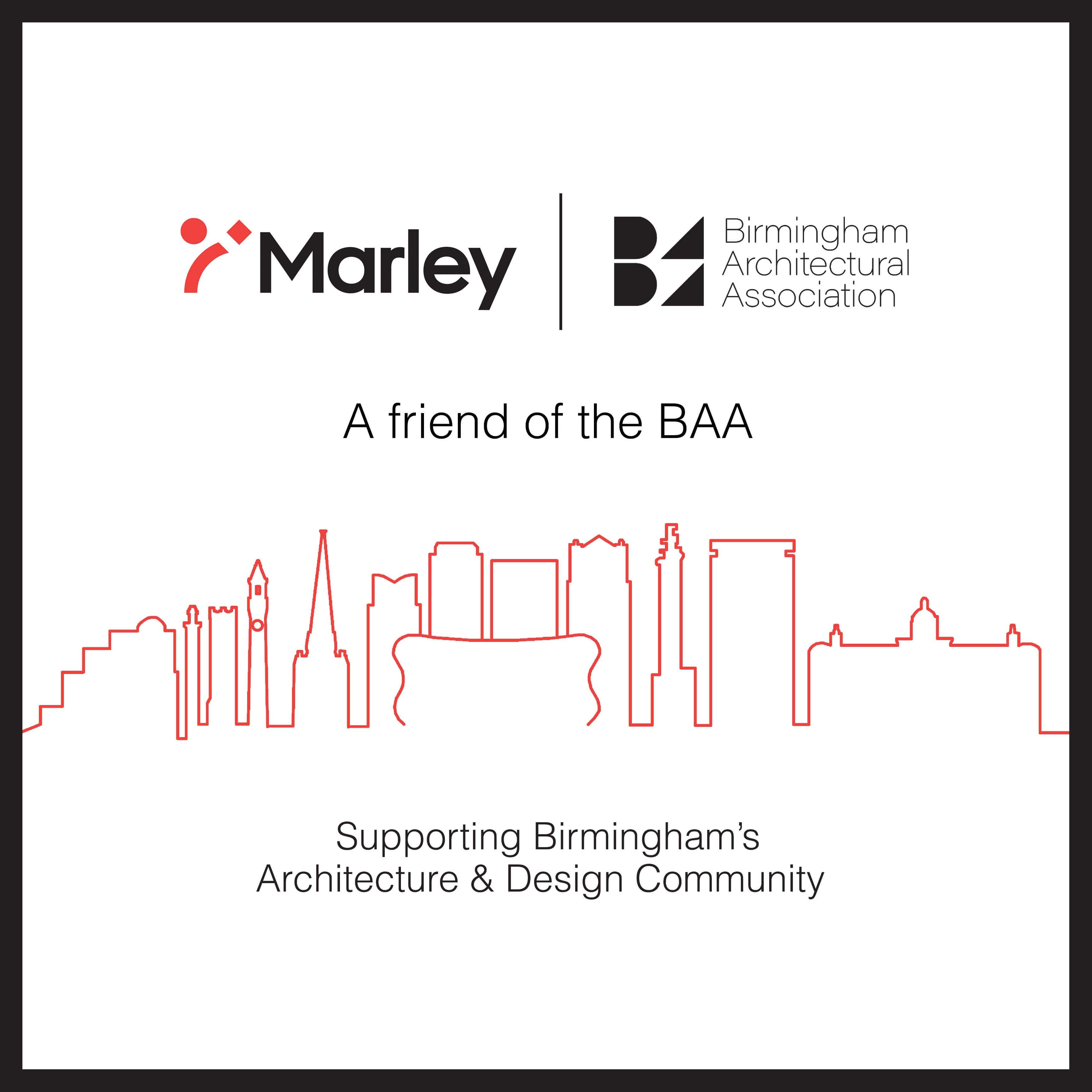 birmingham architectural association and marley partnership logo