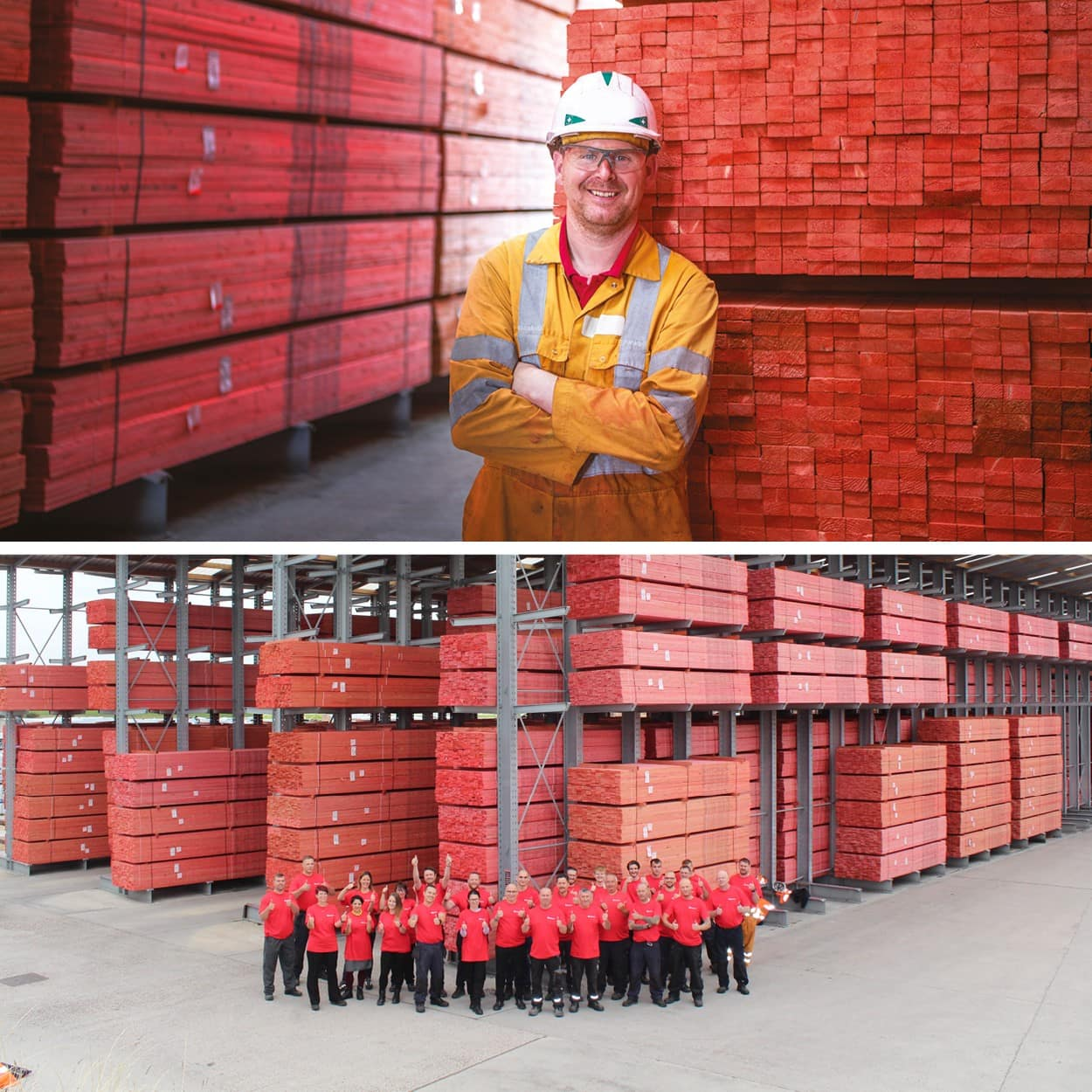 Rely on Red JB Red Roofing Battens nick and Gainsborough team photo