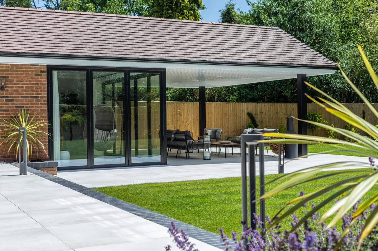 Image of a patio displaying Marley's Acme Double Camber