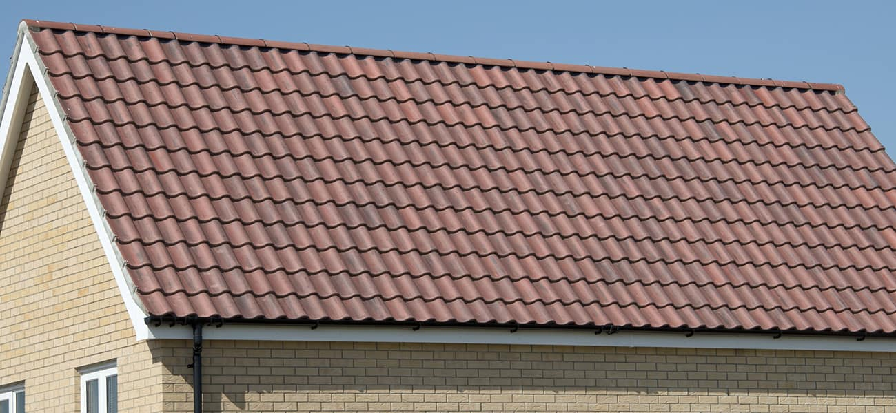 Roof detail showing ridge verge with Anglia used