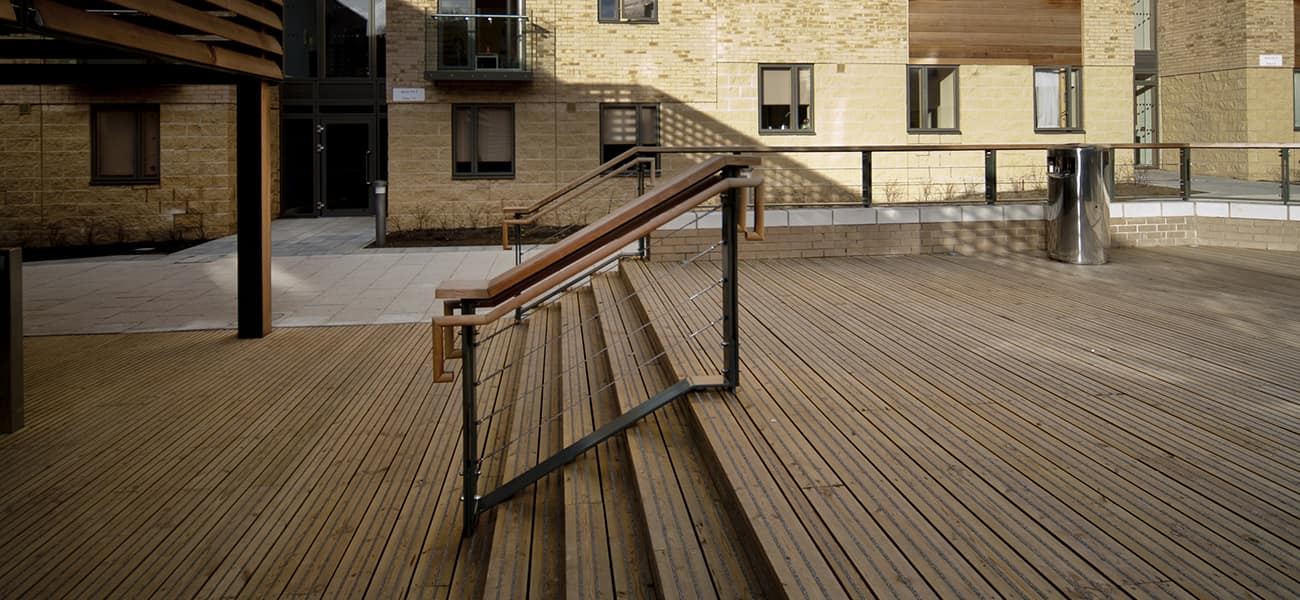 oxford brookes case study using Marley decking