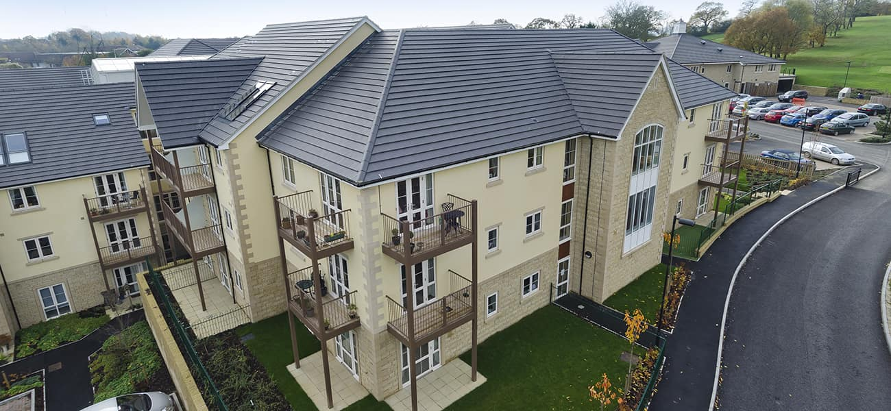 Chippenham care home with Marley Modern Concrete interlocking roof tile from Marley Ltd
