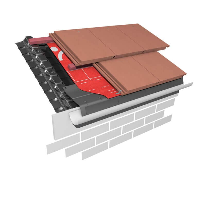An image of a 10mm eaves vent system, available from Marley.