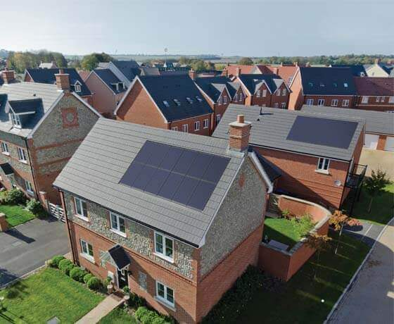 solar panels on housing development