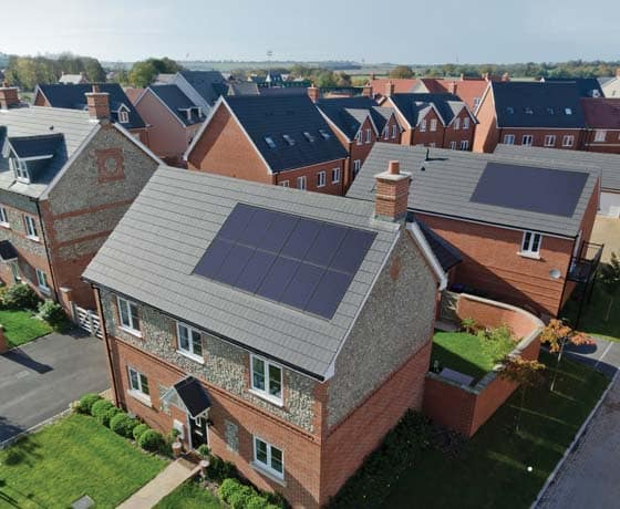Marley solar tiles on housing development