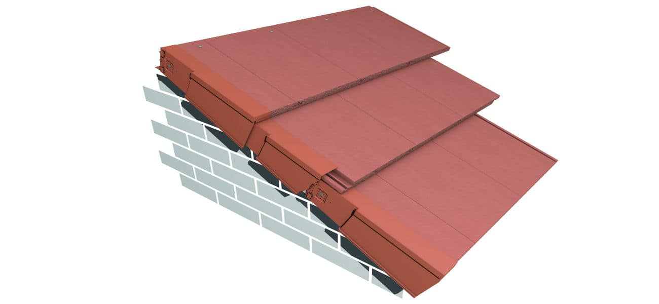 Image featuring Universal dry verge in terracotta from Marley